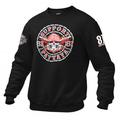 Hells Angels Pattaya Thailand sweatshirt Skull Support81