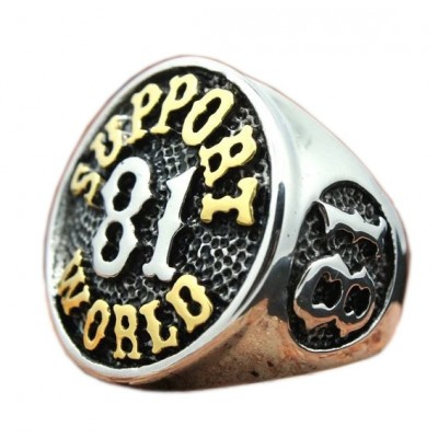 Stainless Steel support81 Biker Ring