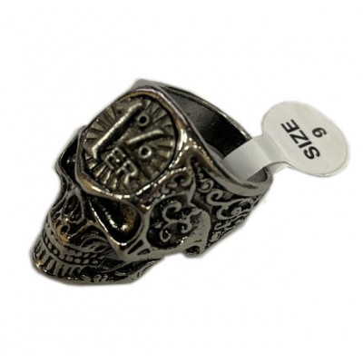Stainless Steel 1% vintage scull old skool Biker Ring