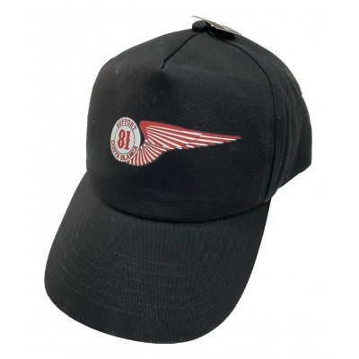 Hells Angels Cap Support 81 Wing baseball cap black