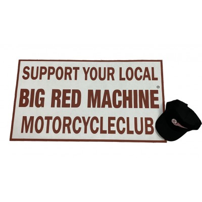 Hells Angels Support81 Big Red Machine Poster Banner 90cm x 50cm polyester