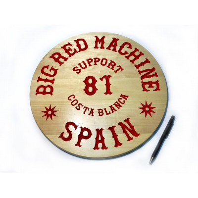 Hells Angels Carved Wood Sign Support 81 Spain