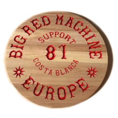 Hells Angels Segno di legno intagliato Support 81 Europe