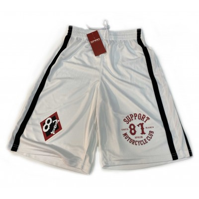 Support 81 Hells Angels Boxing Pantalón corto Biker white Quick-Dry