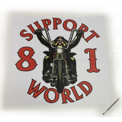 Hells Angels bannière affiche 65cm x 65cm polyester Support81 Biker