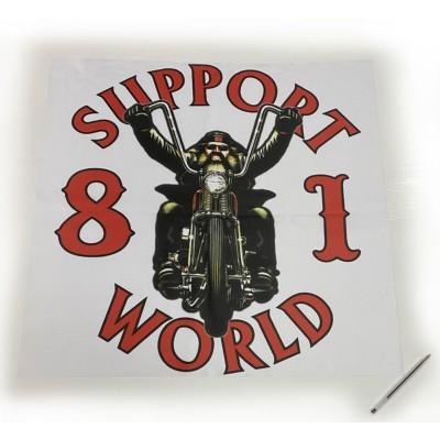 Hells Angels póster / bandera 90cm x 50cm polyester Support81 Biker