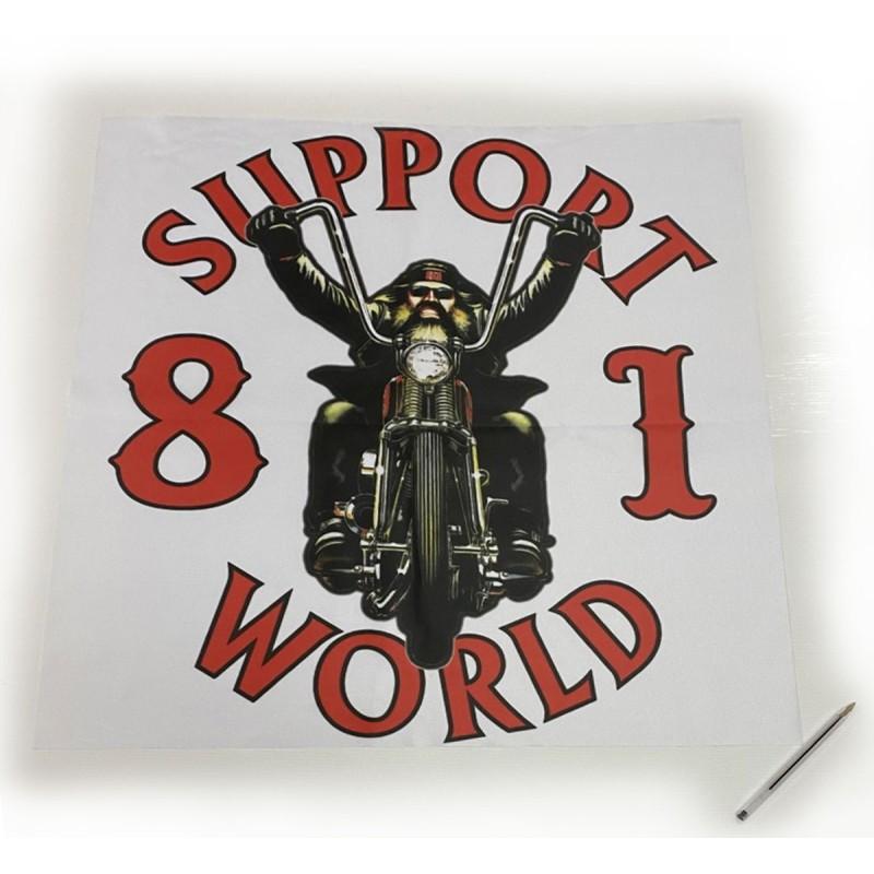 Hells Angels Poster Banner 65cm x 65cm polyester Support81 Biker