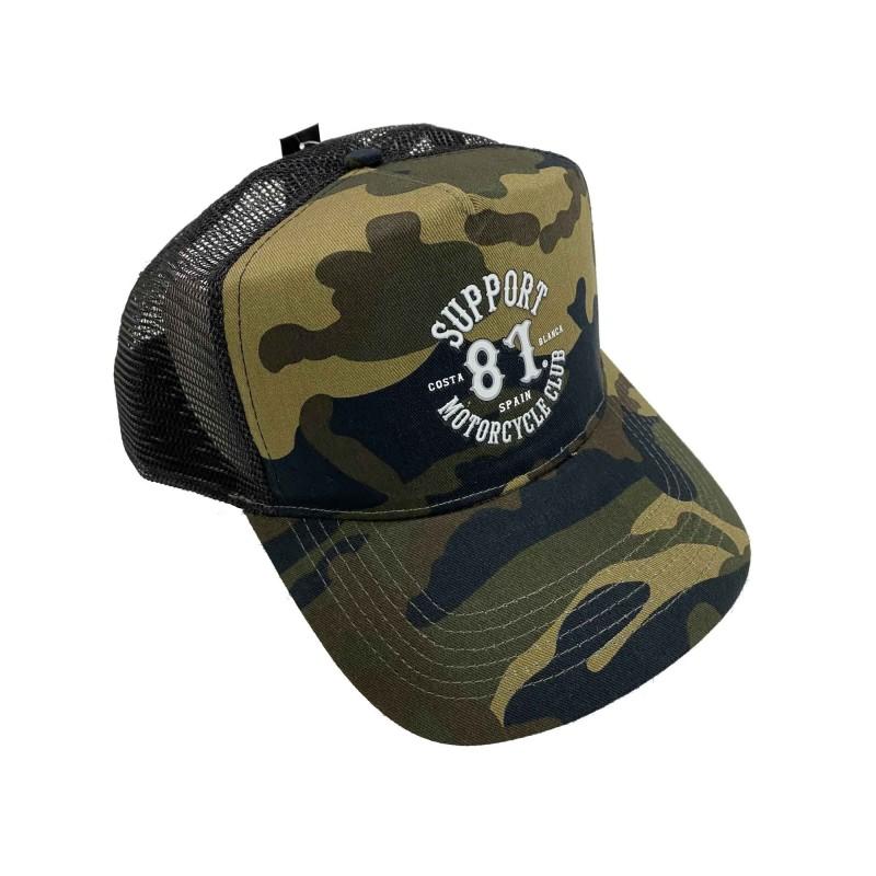 Hells Angels Support81 baseball cap CB Camo mesh Retro Style