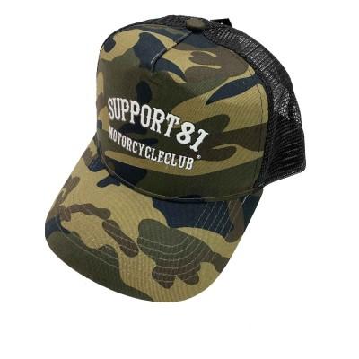 Hells Angels Support81 MC baseball cap CB Camo mesh Retro Style gorra