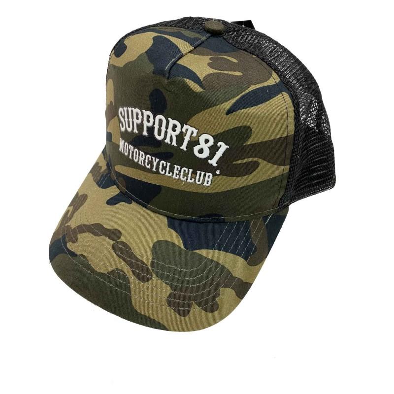 Hells Angels Support81 MC baseball cap CB Camo mesh Retro Style