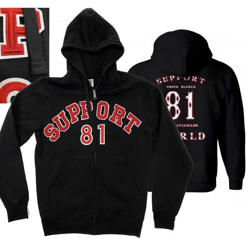 Hells Angels Support81 Sweater hoodie Big Red Machine Black