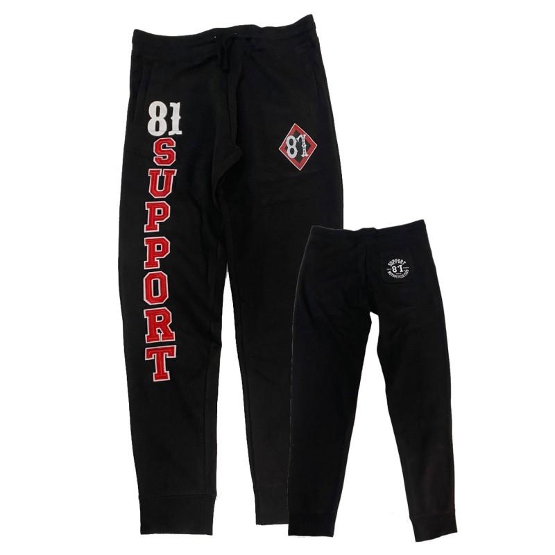 Hells Angels support81 embroided Jogging Pants Black Trainingshose