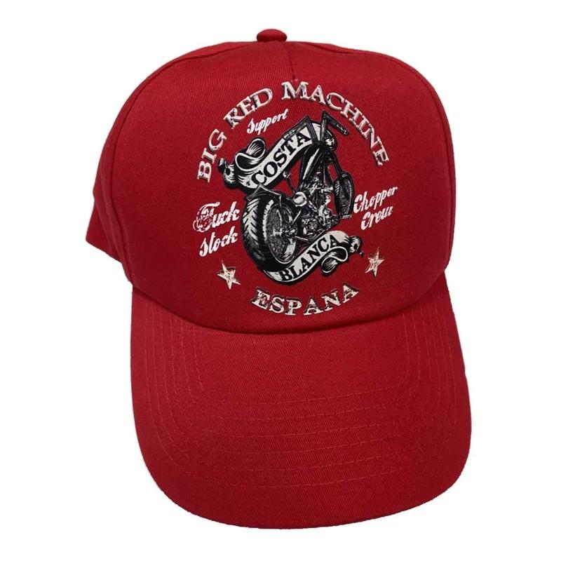 Hells Angels Support 81 Chopper Crew baseball cap red
