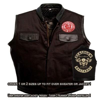 Hells Angels Support81 Denim - Leather Vest