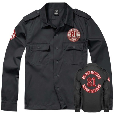 Hells Angels World Support81 work shirt Dickies style Big Red Machine
