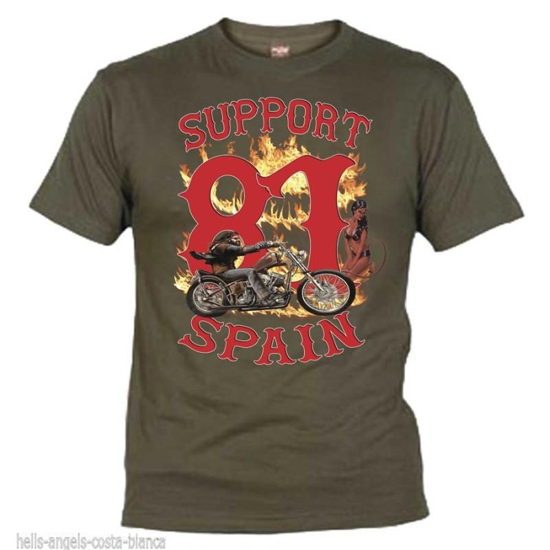 Hells Angels David Mann Grün T-Shirt Support81 Big Red Machine