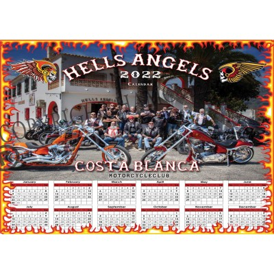 Hells Angels Support 81 Calendar Limited Edition 2022 Big Red Machine