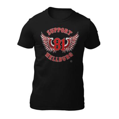 Hells Angels White T-Shirt Support81 WORLD Logo