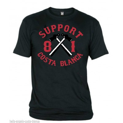 Hells Angels Hammer Black T-Shirt Support81 Big Red Machine 1%