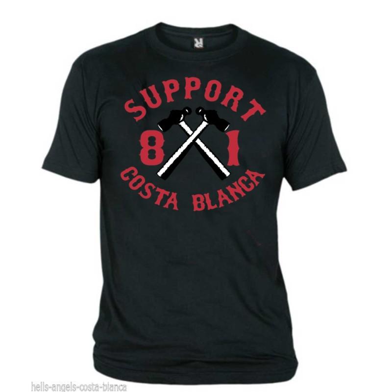 Hells Angels Hammer Schwarz T-Shirt Support81 Big Red Machine 1% Hells