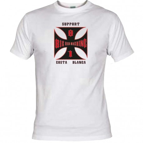 Hells Angels Cross Costa blanca White T-Shirt Support81 Big Red