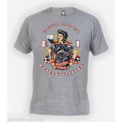 Hells Angels Lady Luck Grau T-Shirt Support81 Big Red Machine 1%
