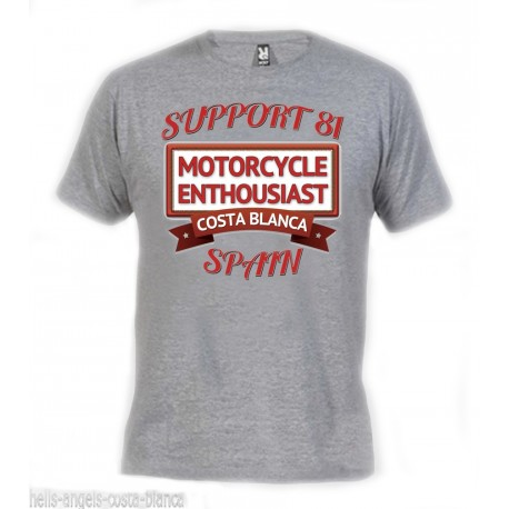 Hells Angels Enthousiast Gray T-Shirt Support81