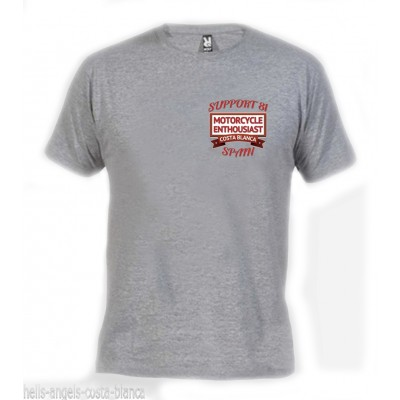 Enthousiast Chestlogo Gray T-Shirt Support81 Hells Angels