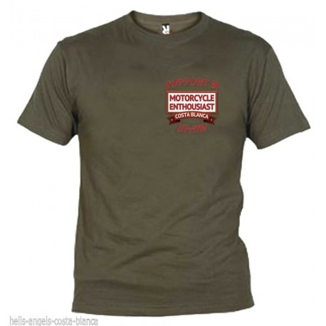 Hells Angels Enthousiast Chestlogo Olive T-Shirt Support81