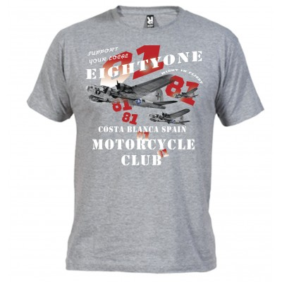 Hells Angels B-17 Gray T-Shirt Support81 Big Red Machine