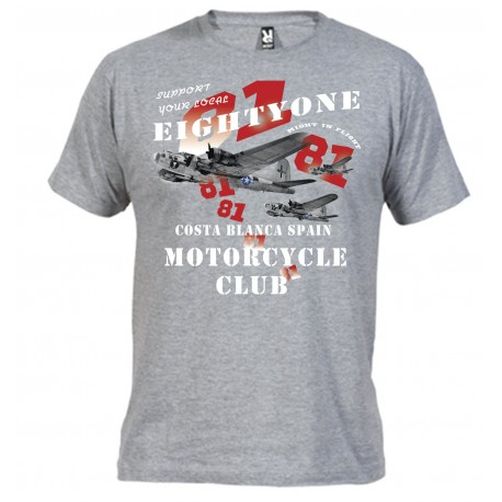 Hells Angels B-17 Grau T-Shirt Support81 Big Red Machine