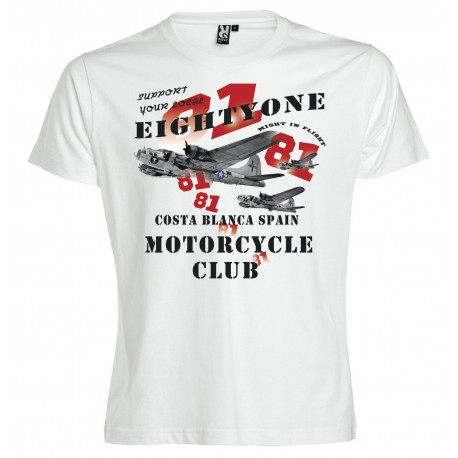Hells Angels B-17 White T-Shirt Support81 Big Red Machine