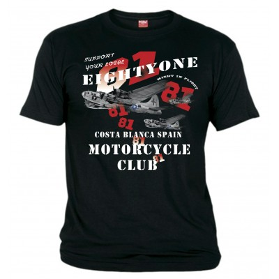 B-17  Black T-Shirt Support81 Big Red Machine