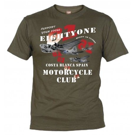 Hells Angels B-17 Olive T-Shirt Support81 Big Red Machine