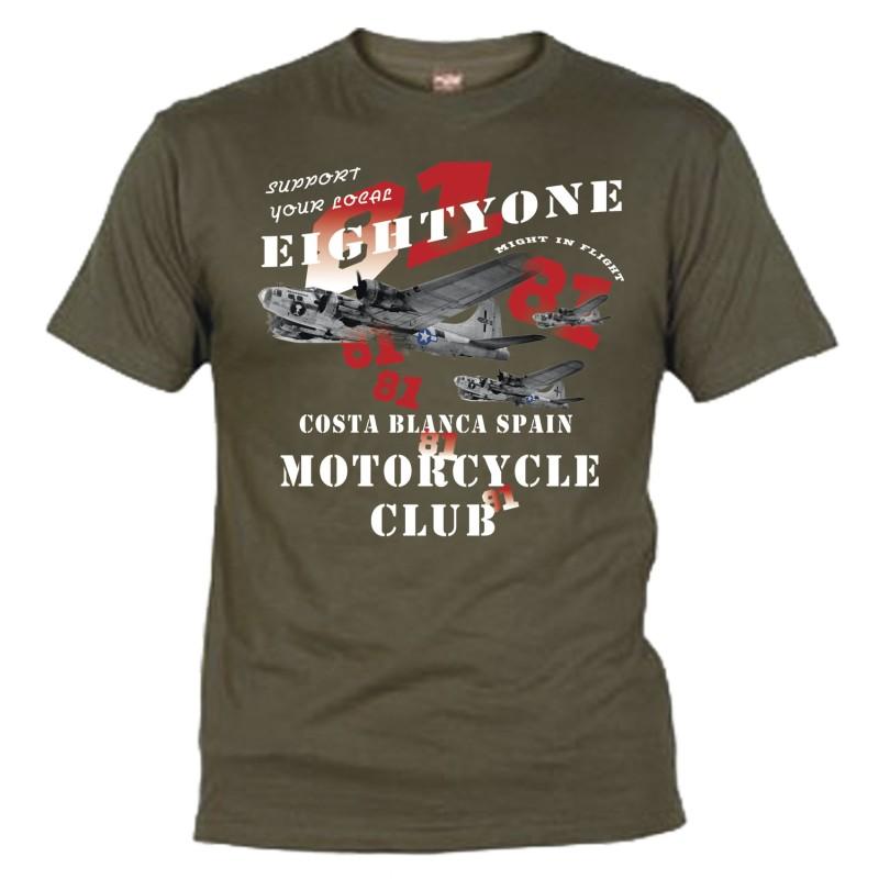 Hells Angels B-17 Olive T-Shirt Support81 Big Red Machine