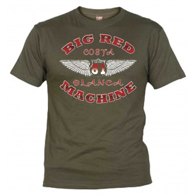 Wings Olive T-Shirt Support81 Big Red Machine