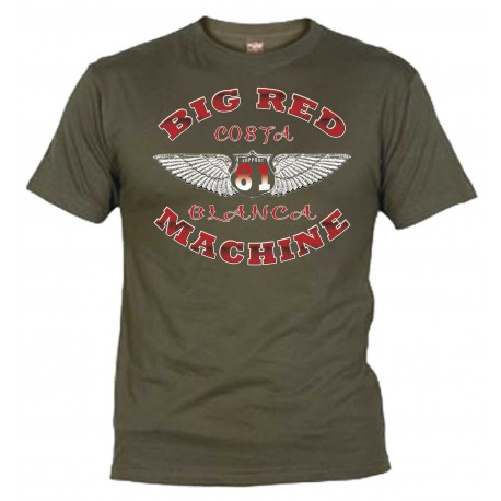Hells Angels Wings Olive T-Shirt Support81 Big Red Machine