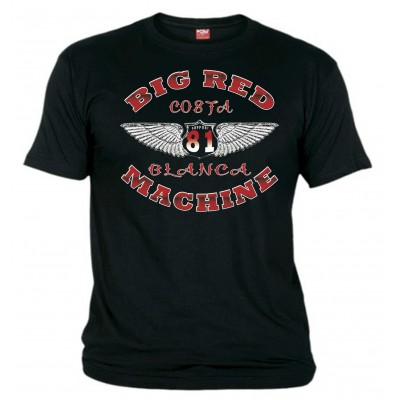 Hells Angels Wings Black T-Shirt Support81 Big Red Machine