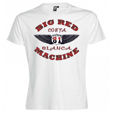 Hells Angels Wings White T-Shirt Support81 Big Red Machine