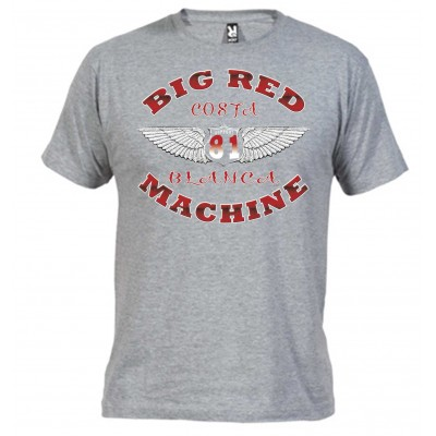 Wings  Grey T-Shirt Support81 Big Red Machine