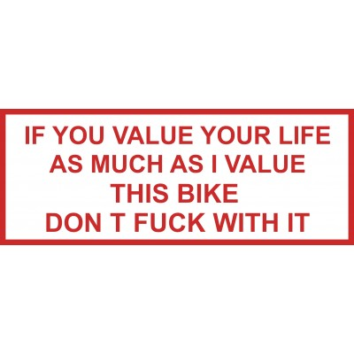 Hells Angels Support 81 adesivo IF YOU VALUE....