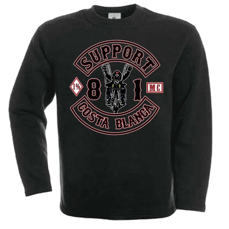Support81 Hells Angels Biker sweatshirt black