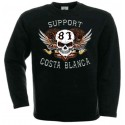 Hells Angels White Scull Support81 sweatshirt black