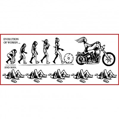 aufkleber EVOLUTION OF WOMAN