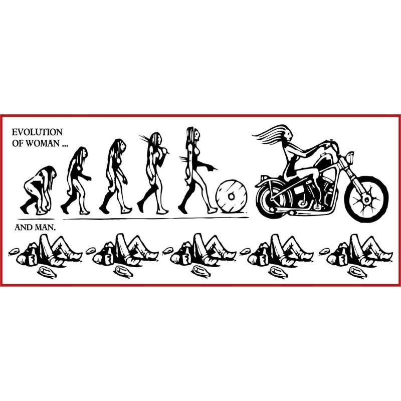 autocollant EVOLUTION OF WOMAN