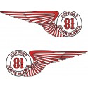 Hells Angels Support 81 sticker Wings 2x (10cm)