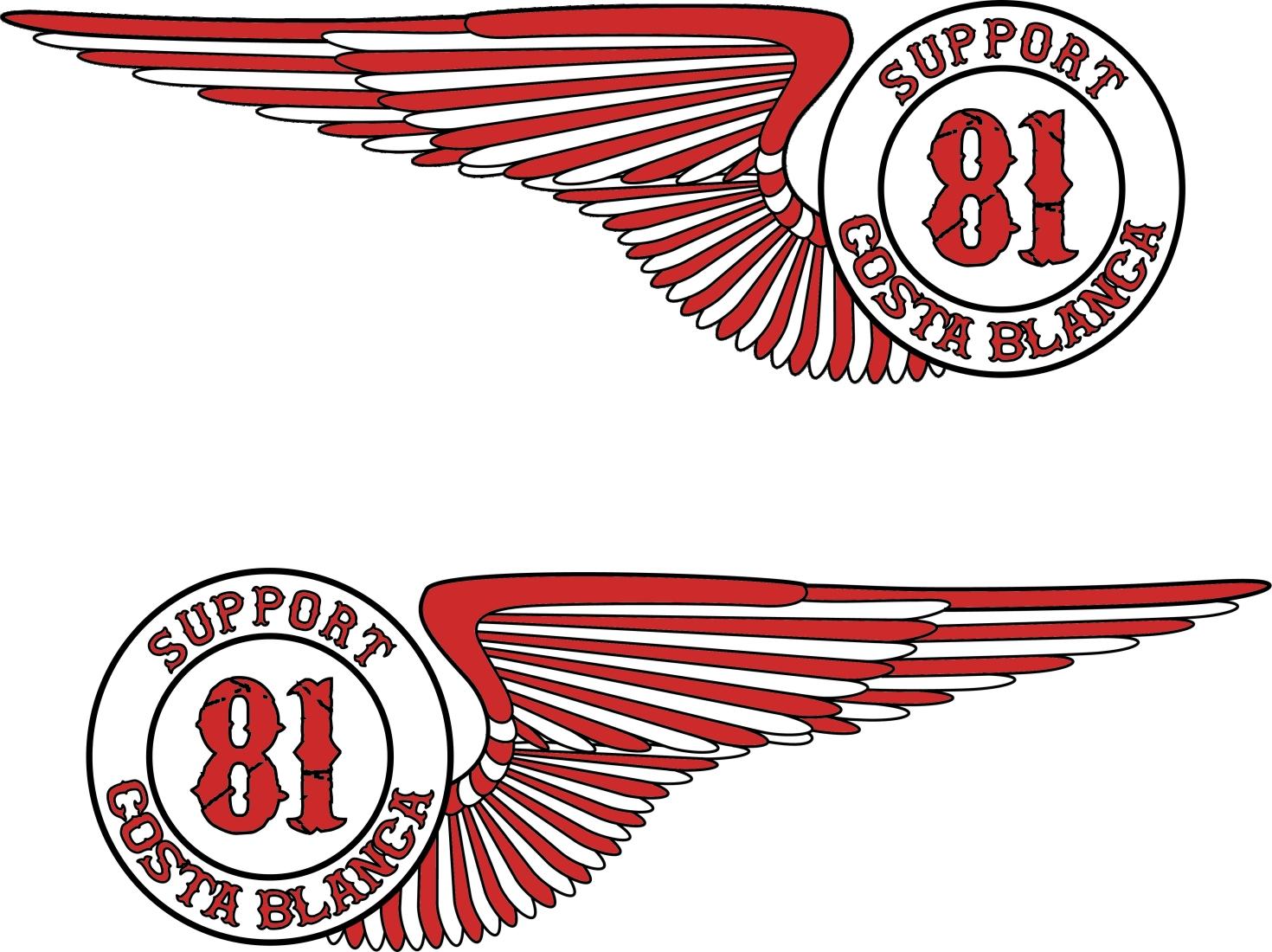 Hells Angels Support 81 Adesivo Wings 2x 10cm Hells Angels World  -> Adesivo Com Foto