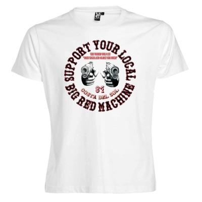Hells Angels Guns Bianco T-Shirt Support81 Costa del Sol