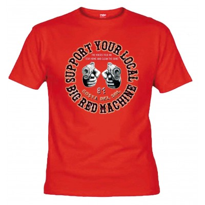 Hells Angels Guns Red T-Shirt Support81 Costa del Sol