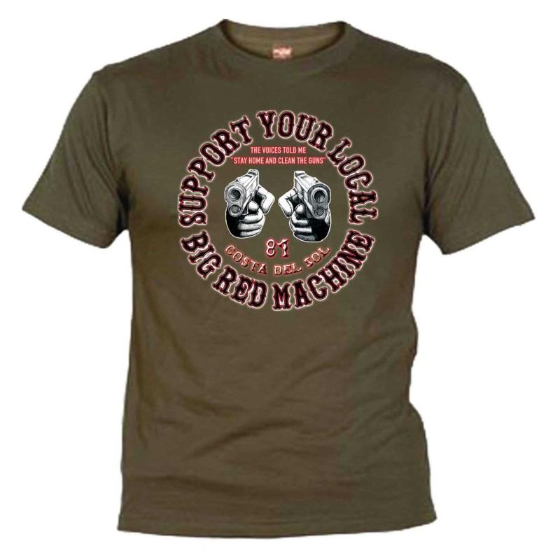 Guns Khaki T-Shirt Support81 Costa del Sol